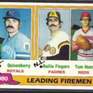 ROLLIE FINGERS 1981 Topps Leaders #8.  SD