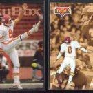 NICK LOWERY 1992 Pinnacle Idols + 1993 Skybox.  CHIEFS