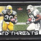 CURTIS MARTIN  2002 Fleer TD Threats Ins. w/ Ahman Green.