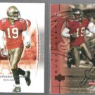 KEYSHAWN JOHNSON 2003 UD SP Authentic + 2001 UD Ovation.  BUCS