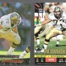JIM DOMBROWSKI 1993 Ultra #301 + 1995 Donruss Red Zone.  SAINTS