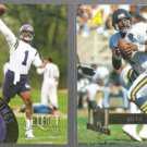 WARREN MOON 1994 Pinnacle #188 + 1995 Pinnacle #177.  VIKINGS