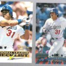 MIKE PIAZZA 1995 Select List #5 of 7 + 1998 Donruss #31.  DODGERS