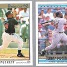 KIRBY PUCKETT 1992 Premier #102 + 1992 Donruss #617.  TWINS