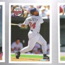 KIRBY PUCKETT 1993 Topps, 1994 Fleer + 1996 UD CC.  TWINS