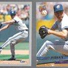 JACK MORRIS 1993 Fleer #697 + 1993 Ultra #290.  JAYS