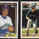 TINO MARTINEZ 1992 Topps #481 + 1993 Bowman #303.  MARINERS