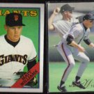 MATT WILLIAMS 1988 Topps #372 + 1993 Flair #148.  GIANTS