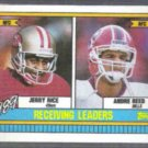 JERRY RICE 1990 Topps #431 w/ Andre Reed.  49ers
