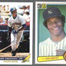 KEN GRIFFEY Jr. 1993 Topps + Sr. 1983 Donruss.  SEA / NYY