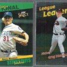 GREG MADDUX 1993 Select #78 of 90 + 1999 Topps Foil #231.