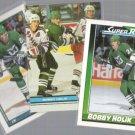 BOBBY HOLIK (3) Card Lot (1991 SC + OPC)  WHALERS