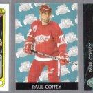 PAUL COFFEY 1990 Topps #116 + 1993 Parkhurst #458 + #276.  PITT / DET