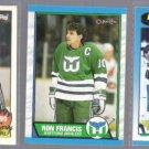 RON FRANCIS (3) Card Lot (1989 - 1991)  HART / PITT
