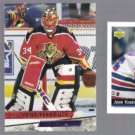 JOHN VANBIESBROUCK (3) Card Lot (1992 + 1993)  NYR / FLA