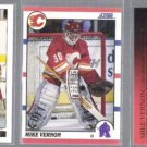 MIKE VERNON (3) Card Lot (1990 + 1993) w/ Gold.  FLAMES