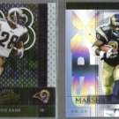 MARSHALL FAULK 2002 Playoff Absolute + 2004 UD SPX.  RAMS