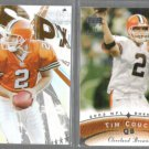 TIM COUCH 2003 UD SPX #4 + 2003 UD Sweet Spot #19.  BROWNS