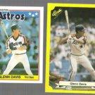 GLENN DAVIS 1988 Topps mini #19 + 199? Classic #107.  ASTROS