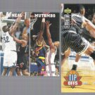 SHAQUILLE O'NEAL 1993 Hoops #290 + 1994 UD CC #184.  MAGIC