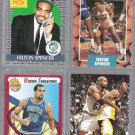 FELTON SPENCER (4) Card Lot (1990 - 1993) w/ RC's + Gold.