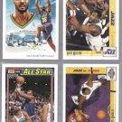 KARL MALONE (4) Card Lot (1991 + 1992) w/ vs. BARKLEY.  JAZZ