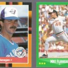 MIKE FLANAGAN 1988 Donruss Best #272 + 1988 Score #427.  JAYS / O'S