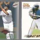 TONY GWYNN 1997 Leaf #17 + 1995 Summit #183.  PADRES