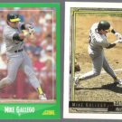 MIKE GALLEGO 1988 Score #428 + 1992 Topps Gold Winner #76.  A's