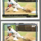 SHAWON DUNSTON 1992 Topps Gold + Winner Inserts #370.  CUBS