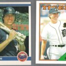 RAY KNIGHT 1984 Fleer #229 + 1988 Topps Traded #59T.  HOUS / DET