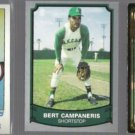 BERT CAMPANERIS (3) Card Lot (1982, 89 + 92)  ANGELS / A's