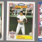 WILL CLARK (3) Card Lot (1989 + 1991)  GIANTS