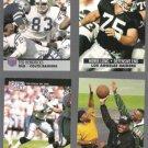 RAIDERS Greats (4) Card early 90's Lot w/ Long, Hendricks, Shell, Golic