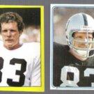 TED HENDRICKS 1982 + 1983 Topps mini Stickers.  RAIDERS