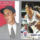 BOBBY HURLEY 1993 Skybox Premium Draft Insert + 1993 Hoops RC.  KINGS