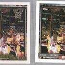 MICHAEL JORDAN 1992 Topps GOLD Insert w/ sister #141. - Sharp