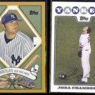 JOBA CHAMBERLAIN 2008 Topps Designs #TCP9 + Topps Team #NYY10.