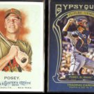 BUSTER POSEY 2010 Topps A&G RC + 2011 Gypsy Queen.  GIANTS