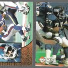 RODNEY HAMPTON 1996 Select #29 + 1994 Edge Excalibur #51.  GIANTS