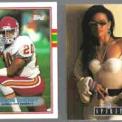 DERON CHERRY 1989 Topps #352 + FAITH 1992 Spirit Portraits #9.  CHIEFS