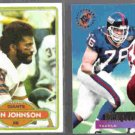 KEN JOHNSON 1980 Topps #184 + JOHN ELLIOTT 1995 Stadium Club #39.  GIANTS