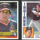 RON HASSEY 1984 Donruss #460 + MIKE HARGROVE 1984 Topps #764.  INDIANS