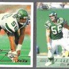 JEFF LAGEMAN 1994 Fleer #357 + 1994 Pacific #200.  JETS