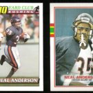 NEAL ANDERSON 1991 Topps 1000 Yard Club #2 + 1989 Topps #64.  BEARS