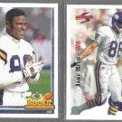 JAKE REED 1991 Upper Deck Rookie #646 + 1995 Score #12.  VIKINGS