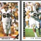 TIM KRUMRIE 1993 Topps #358 + 1993 Score #349.  BENGALS