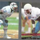 WILBER MARSHALL 1994 Edge Excalibur #27 + 1993 Ultra #168.  OILERS