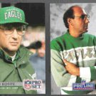 RICH KOTITE 1992 Pro Set #288 + 1991 Portraits #237.  EAGLES