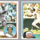AL BUMBRY 1983 Topps #655 + 1981 Topps #425.  ORIOLES